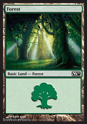 Forest (247), Magic 2011 Core Set, Magic the Gathering