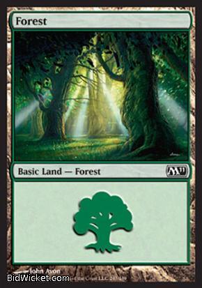 Forest (247), Magic 2011 Core Set, Magic the Gathering