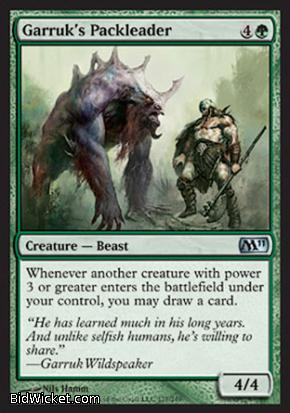 Garruk's Packleader, Magic 2011 Core Set, Magic the Gathering