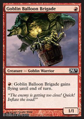Goblin Balloon Brigade, Magic 2011 Core Set, Magic the Gathering