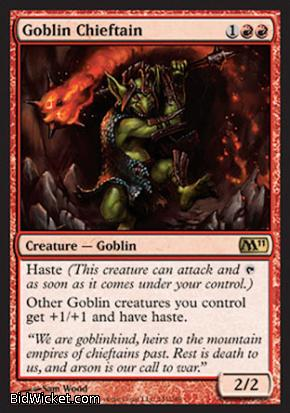 Goblin Chieftain, Magic 2011 Core Set, Magic the Gathering