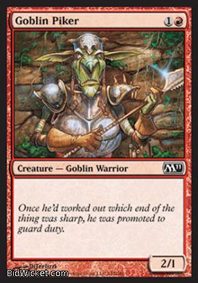 Goblin Piker, Magic 2011 Core Set, Magic the Gathering