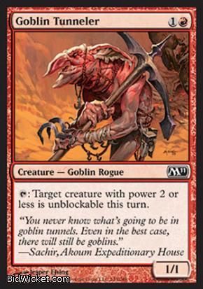 Goblin Tunneler, Magic 2011 Core Set, Magic the Gathering