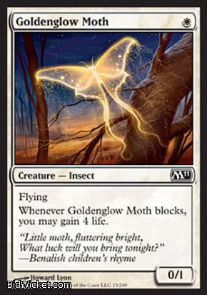 Goldenglow Moth, Magic 2011 Core Set, Magic the Gathering