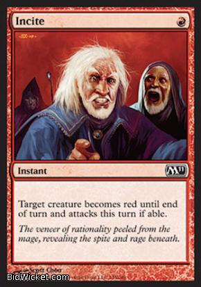 Incite, Magic 2011 Core Set, Magic the Gathering