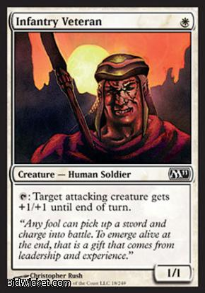 Infantry Veteran, Magic 2011 Core Set, Magic the Gathering