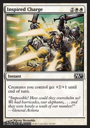 Inspired Charge, Magic 2011 Core Set, Magic the Gathering