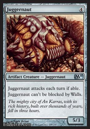 Juggernaut, Magic 2011 Core Set, Magic the Gathering