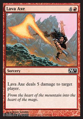 Lava Axe, Magic 2011 Core Set, Magic the Gathering