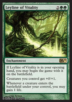 Leyline of Vitality, Magic 2011 Core Set, Magic the Gathering