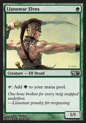 Llanowar Elves, Magic 2011 Core Set, Magic the Gathering