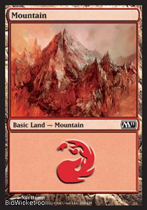 Mountain (244), Magic 2011 Core Set, Magic the Gathering