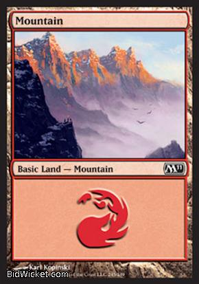 Mountain (245), Magic 2011 Core Set, Magic the Gathering