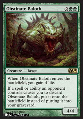 Obstinate Baloth, Magic 2011 Core Set, Magic the Gathering