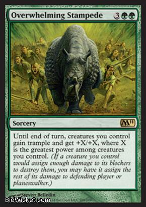 Overwhelming Stampede, Magic 2011 Core Set, Magic the Gathering
