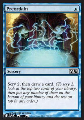 Preordain, Magic 2011 Core Set, Magic the Gathering