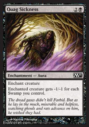Quag Sickness, Magic 2011 Core Set, Magic the Gathering