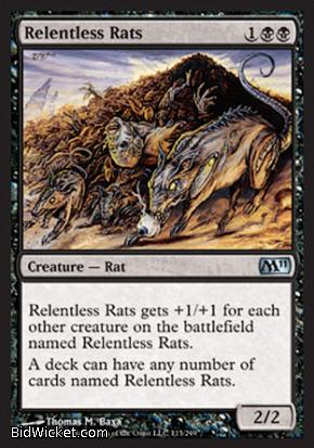 Relentless Rats, Magic 2011 Core Set, Magic the Gathering