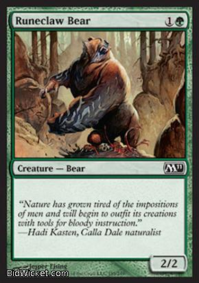 Runeclaw Bear, Magic 2011 Core Set, Magic the Gathering