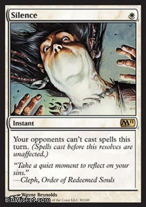 Silence, Magic 2011 Core Set, Magic the Gathering