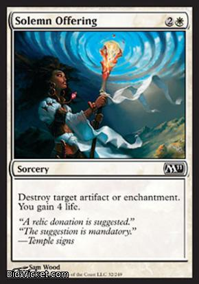 Solemn Offering, Magic 2011 Core Set, Magic the Gathering