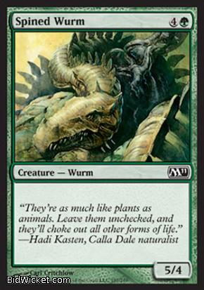 Spined Wurm, Magic 2011 Core Set, Magic the Gathering