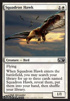Squadron Hawk, Magic 2011 Core Set, Magic the Gathering