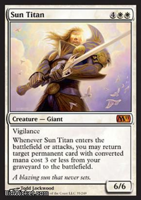 Sun Titan, Magic 2011 Core Set, Magic the Gathering