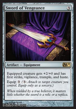 Sword of Vengeance, Magic 2011 Core Set, Magic the Gathering