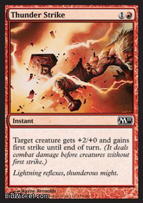 Thunder Strike, Magic 2011 Core Set, Magic the Gathering