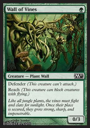 Wall of Vines, Magic 2011 Core Set, Magic the Gathering