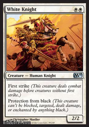 White Knight, Magic 2011 Core Set, Magic the Gathering