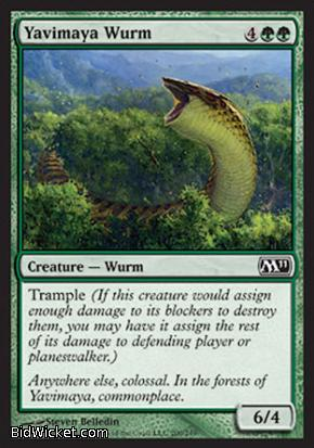 Yavimaya Wurm, Magic 2011 Core Set, Magic the Gathering
