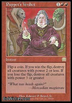 Puppet's Verdict, Mercadian Masques, Magic the Gathering