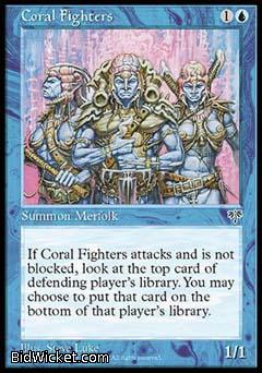 Coral Fighters, Mirage, Magic the Gathering