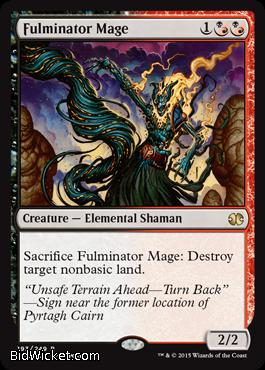 Fulminator Mage,Modern Masters 2015, Magic the Gathering