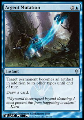 Argent Mutation, New Phyrexia, Magic the Gathering