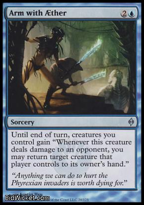 Arm with Aether, New Phyrexia, Magic the Gathering