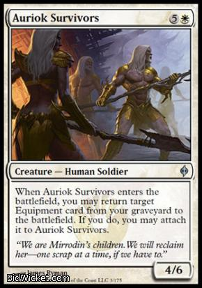 Auriok Survivors, New Phyrexia, Magic the Gathering