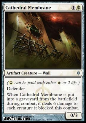 Cathedral Membrane, New Phyrexia, Magic the Gathering
