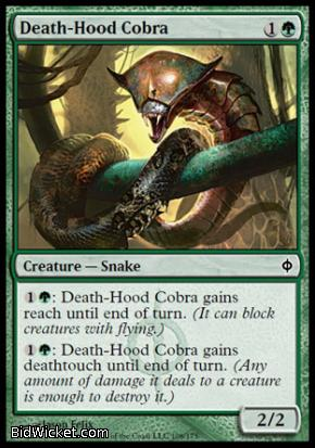 Death-Hood Cobra, New Phyrexia, Magic the Gathering