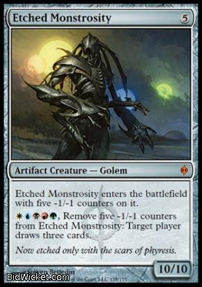 Etched Monstrosity, New Phyrexia, Magic the Gathering