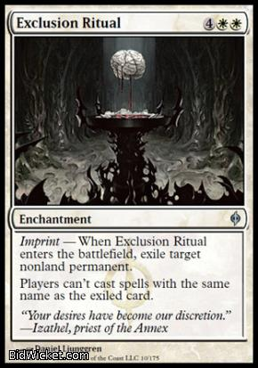 Exclusion Ritual, New Phyrexia, Magic the Gathering