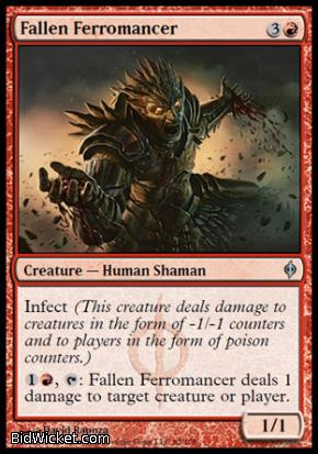 Fallen Ferromancer, New Phyrexia, Magic the Gathering