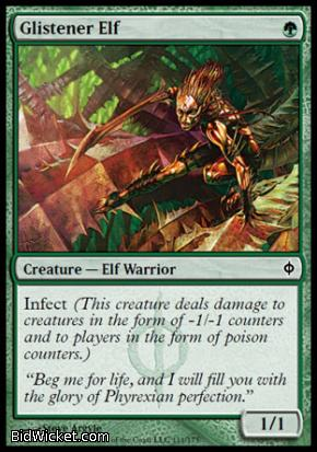 Glistener Elf, New Phyrexia, Magic the Gathering