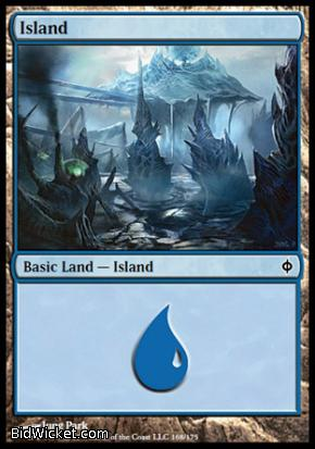 Island (168), New Phyrexia, Magic the Gathering