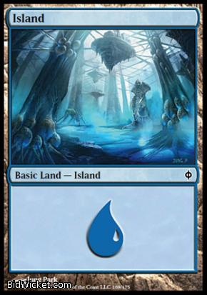 Island (169), New Phyrexia, Magic the Gathering
