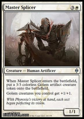 Master Splicer, New Phyrexia, Magic the Gathering