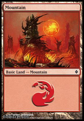 Mountain (172), New Phyrexia, Magic the Gathering