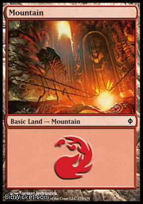 Mountain (173), New Phyrexia, Magic the Gathering